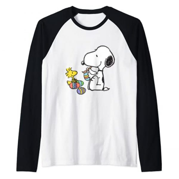 Peanuts Graphic Tshirt 1 Snoopy Easter egg Raglan Baseball Tee