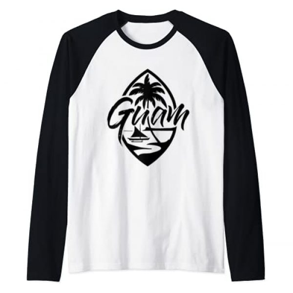 Guam T shirts Chamorro Pride Gifts Graphic Tshirt 1 Guam Patch Chamorro T Shirt | Guam Seal Guamanian Gifts Raglan Baseball Tee