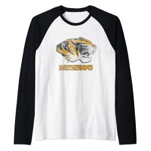 Venley Graphic Tshirt 1 University of Missouri Tigers Mizzou NCAA 01MOD2 Raglan Baseball Tee
