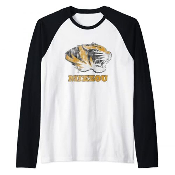 Venley Graphic Tshirt 1 University of Missouri Tigers Mizzou NCAA 01MOD2 Raglan Baseball Tee