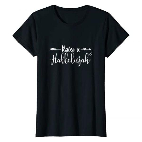Christian Faith Jesus Believer Apparel Graphic Tshirt 1 I Raise A Hallelujah Praise The Lord Amen T-Shirt