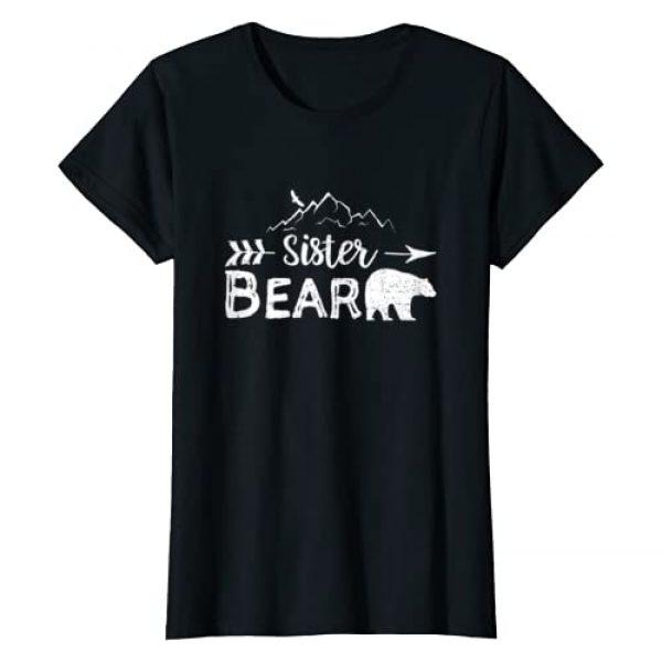 DesignsByJnk5 Camping Graphic Tshirt 1 Sister Bear Shirt Matching Family Siblings Camping Gift