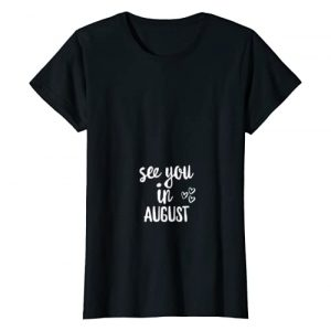 Pregnancy announcement apparel gifts Tee Graphic Tshirt 1 Womens Womens Pregnancy Announcement Shirt See You In August