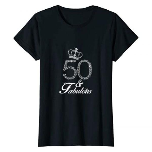 Fabulous Birthday Gift T-shirts for Women Graphic Tshirt 1 Womens 50th Birthday Gift 1969 T-shirt 50 Years Old for Women