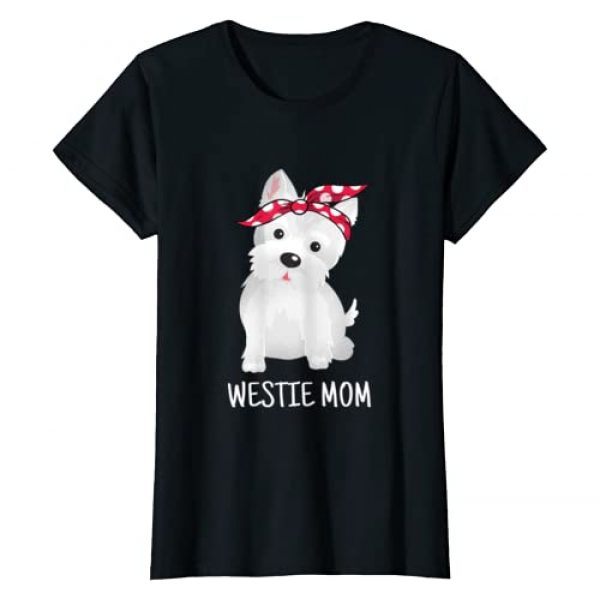 Westie Terrier Dog Lovers Gifts Graphic Tshirt 1 Westie Mom West Highland White Terrier Dog Lovers Gift T-Shirt