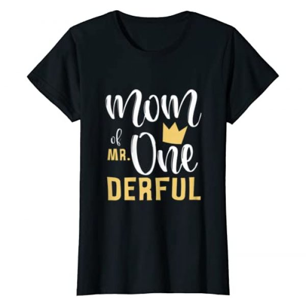 Mr Onederful 1st Birthday Party First One-Derful Graphic Tshirt 1 Womens Mom of Mr Onederful 1st Birthday First One-Derful Matching T-Shirt