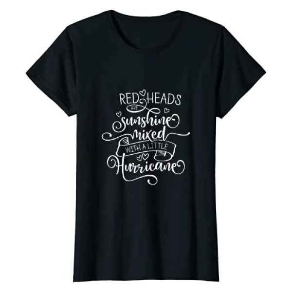 Funny Redhead & Ginger Shirts by FreakyS Graphic Tshirt 1 Ginger Redheads Are Sunshine Mixed With A Little Hurricane T-Shirt
