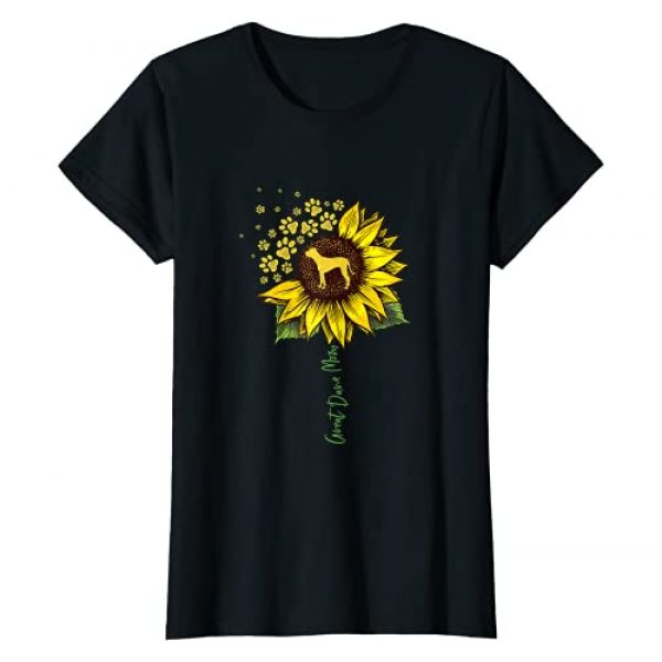 Funny Great Dane Gifts For Women Girls Graphic Tshirt 1 Great Dane Mom Sunflower Great Dane Lover Gifts Dog Mom Mama T-Shirt