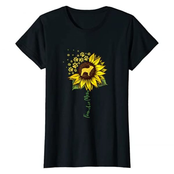 Funny Frenchie Gifts For Women Girls Graphic Tshirt 1 Frenchie Mom Sunflower French Bulldog Lover Gifts Dog Mama T-Shirt