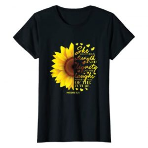 Christian Gifts by Alexis Mae Graphic Tshirt 1 Christian Bible Verse Sunflower Scripture Religious Gift Her T-Shirt