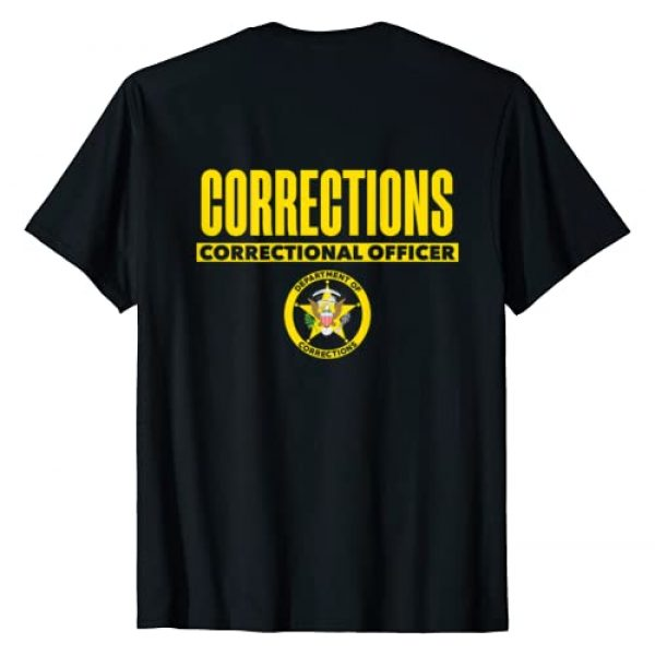Tactical Corrections Officer Uniform Apparel Graphic Tshirt 2 Correctional Prison Officer Thin Gray Line Flag Duty T-Shirt