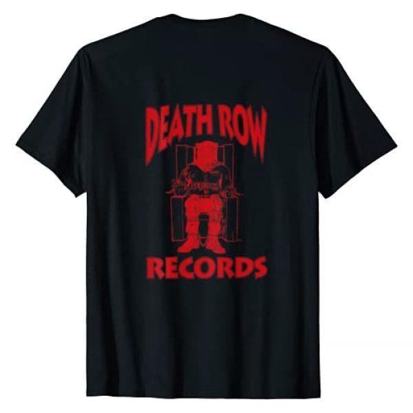 Death Row Records Graphic Tshirt 2 Red On Black Death Row Logo T-Shirt