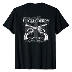 "Pilot Patriot Apparel Graphic Tshirt 1 ""I'm Your Huckleberry"" T-Shirt"