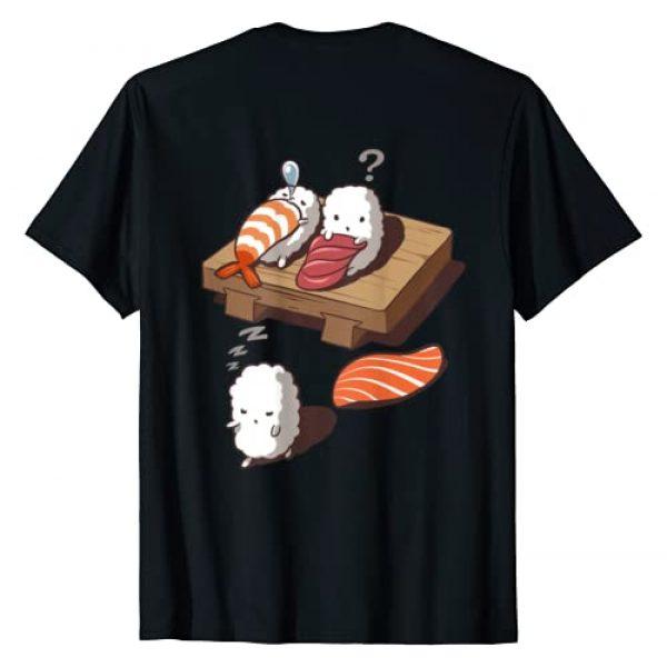 Fox Republic T-Shirts Graphic Tshirt 1 Funny Japanese Nigiri Sushi Sleepwalking T-Shirt