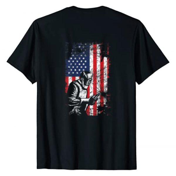 Tee Kaboom! Graphic Tshirt 1 Welding Shirt American Flag Welder Distressed Image Back T-Shirt