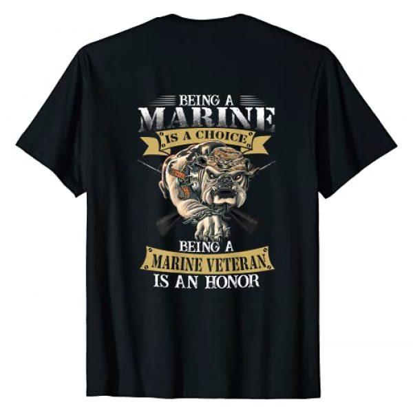 Men Birthday T-shirt Graphic Tshirt 1 Being a marine veteran is an honor T-Shirt