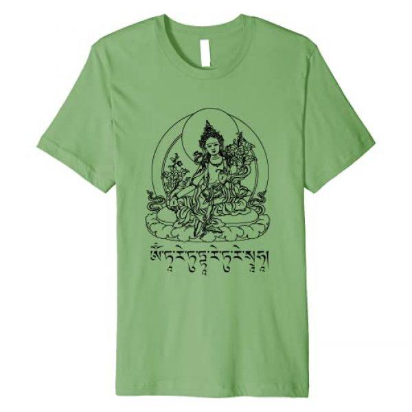 Buddhist Meditation Gifts Graphic Tshirt 1 Buddha Green Tara Mantra Tibetan Buddhism Vajrayana Premium T-Shirt