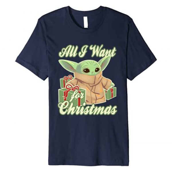 Star Wars Graphic Tshirt 1 The Mandalorian The Child All I Want For Christmas Premium T-Shirt