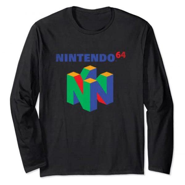 Nintendo Graphic Tshirt 1 64 Classic Logo Retro Vintage Long Sleeve Tee