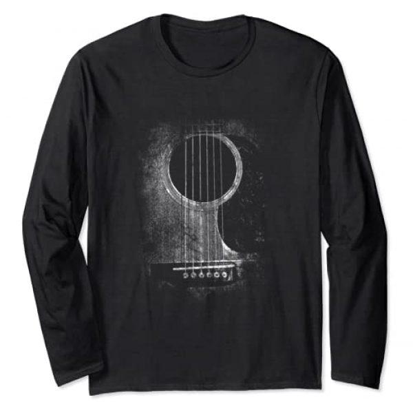 Irregulariteez Acoustic Guitar Graphic Tshirt 1 Acoustic Guitar Six String Classic Rock & Roll Long Sleeve T-Shirt