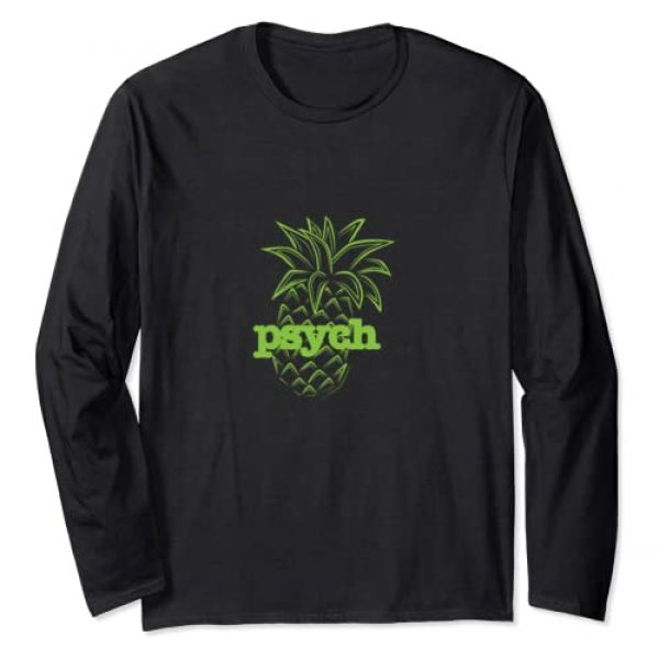 USA Network Graphic Tshirt 1 Psych Pineapple Awesome Long Sleeve T-Shirt