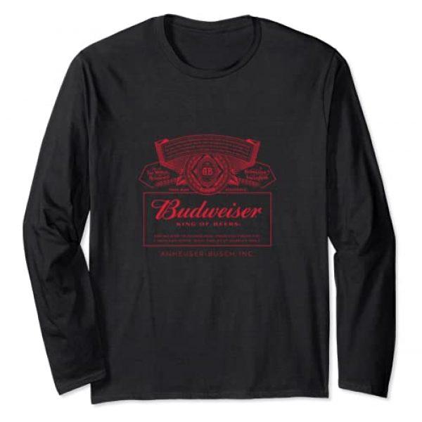 Budweiser Graphic Tshirt 1 Can Label Long Sleeve Shirt