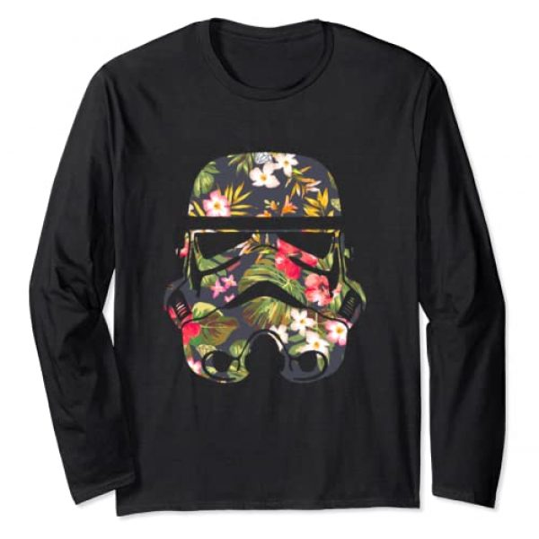 Star Wars Graphic Tshirt 1 Tropical Stormtrooper Floral Print Long Sleeve Tee