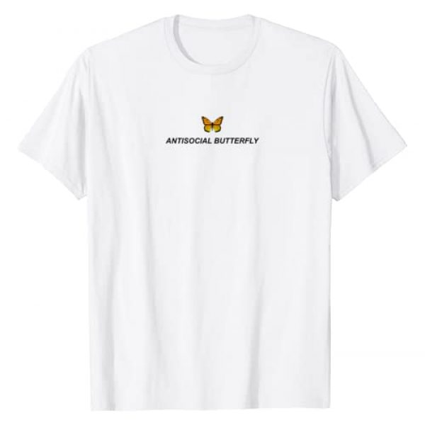 Aesthetic Clothing & Soft Grunge Clothes Graphic Tshirt 1 Antisocial Butterfly Aesthetic Clothing Soft E-Girl Women T-Shirt