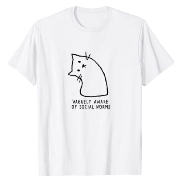 Cat Graphic Tshirt 1 Vaguely Aware Of Social Norms Funny Cat T-Shirt