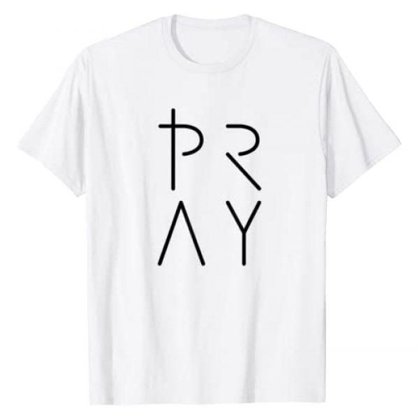 290 Creative Graphic Tshirt 1 Pray T-Shirt, Womens Christian T Shirt T-Shirt