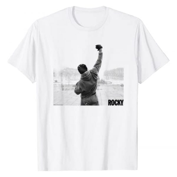Rocky Graphic Tshirt 1 Fist Raise Grey Scale Movie Poster T-Shirt