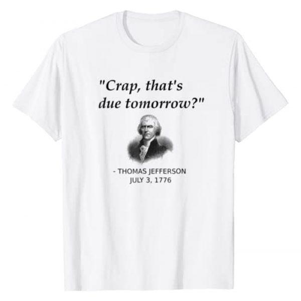 Thomas Jefferson Independence Day History T-Shirts Graphic Tshirt 1 Funny Thomas Jefferson USA History Teacher T-Shirt Geek Gift