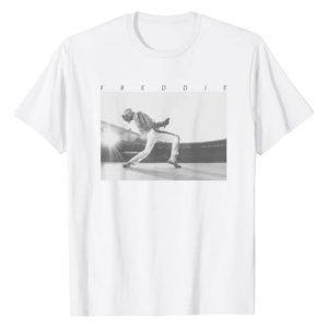 Freddie Mercury Graphic Tshirt 1 Official Howl Stage Icon B&W Photo T-Shirt T-Shirt