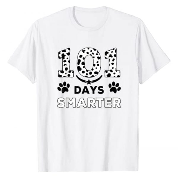 Cute 101 Days Smarter Dalmatian Dog Lover Graphic Tshirt 1 101 Days Smarter Dalmation Dog Funny Teachers Kids Gift T-Shirt