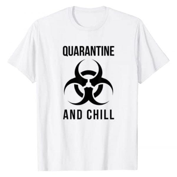 Trevco Graphic Tshirt 1 Quarantine and Chill Biohazard T-Shirt
