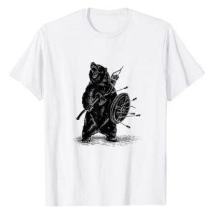 Amazing T shirt Graphic Tshirt 1 Viking Bear Warrior T shirt-Polar Bear T shirt