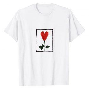 Cool 90's Graphic Tshirt 1 Heart Rose T-Shirt