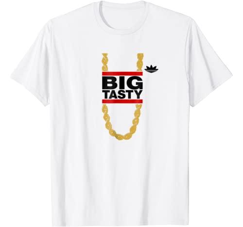 """Vertigo Creative Products Graphic Tshirt 1 """"Big Tasty"""" - Barry Goldbergs Alter-Ego - Retro 80's T-Shirt"""