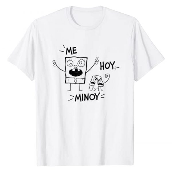 SpongeBob SquarePants Graphic Tshirt 1 Me Hoy Minoy Outline Sketch T-Shirt