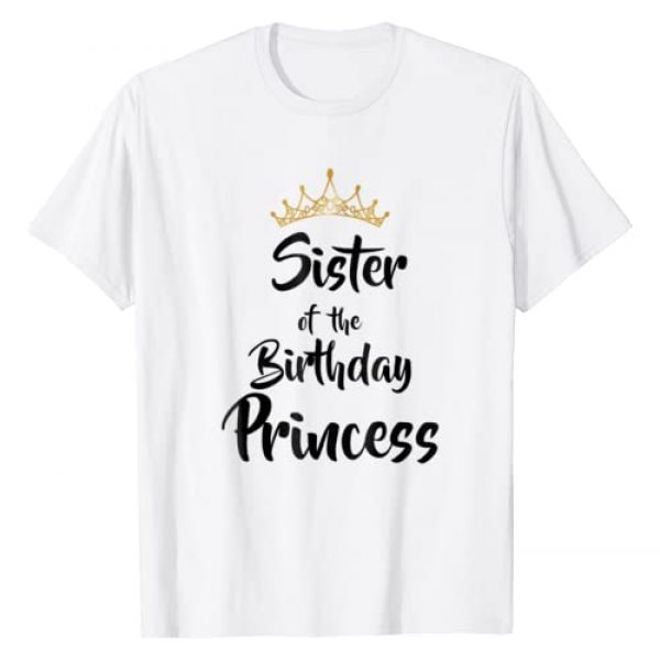 Birthday Matching Family Funny Set T-Shirt Gifts Graphic Tshirt 1 Sister Of The Birthday Princess Matching Family T-shirt