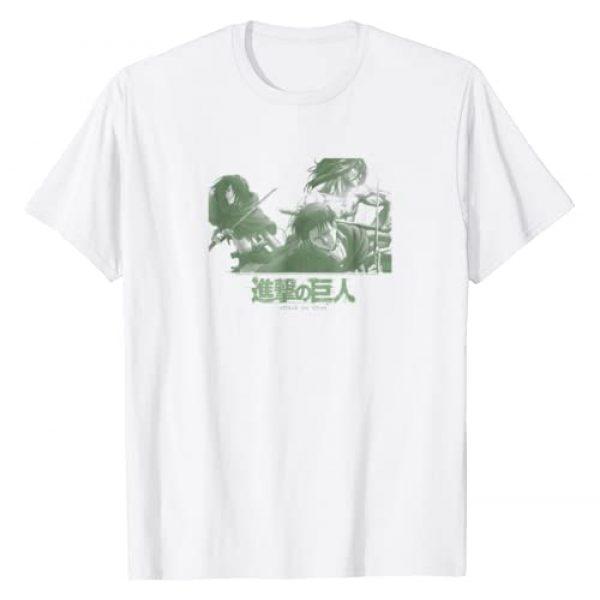 Attack on Titan Graphic Tshirt 1 Season 2 Halftone Character Comp T-shirt