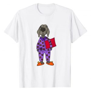 SmileteesPets Graphic Tshirt 1 Funny Weimaraner in Pajamas T-shirt