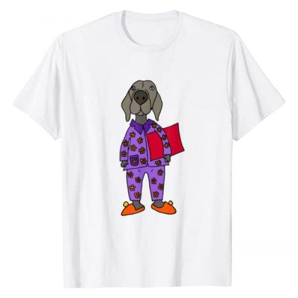 SmileteesPets Graphic Tshirt 1 Funny Weimaraner in Pajamas T-shirt