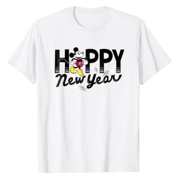 Disney Graphic Tshirt 1 Mickey Mouse Happy New Year T-Shirt