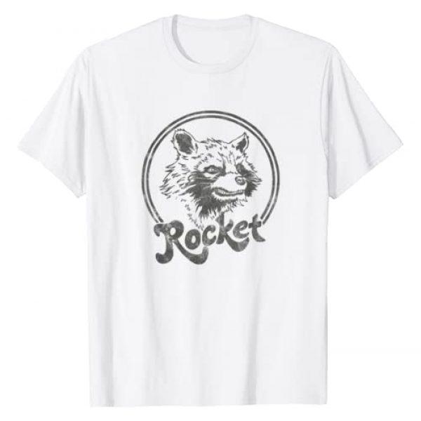 Marvel Graphic Tshirt 1 Guardians Of The Galaxy Rocket Circle Portrait T-Shirt