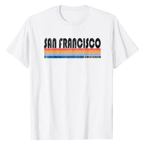 Cool and Trendy Birthday Apparel Graphic Tshirt 1 Vintage 1980s Style San Francisco CA T-Shirt T-Shirt