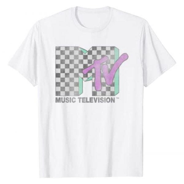MTV Graphic Tshirt 1 Checkered Distressed Retro Logo T-Shirt