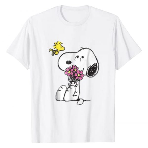 Peanuts Graphic Tshirt 1 Snoopy mother's love flowers Long Sleeve T-shirt
