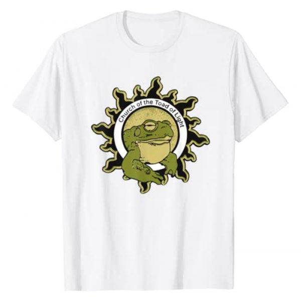 Novelty Trippy Psychedelic Shirts and Gifts Graphic Tshirt 1 Church of the Toad of Light Sonoran Desert Bufo Toad Shirt