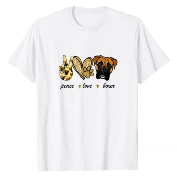 Peace Love Boxer Dog Boxer Dog Lover Gift Graphic Tshirt 1 Peace Love Boxer Dog Boxer Dog Lover Gift T-Shirt